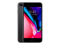 "Apple iPhone 8 Plus - Smartphone - 4G LTE Advanced - 64 GB - GSM - 5.5"" - 1920 x 1080 pixels (401 ppi) - Retina HD - 12 MP (7 MP-frontkamera) - romgrå MQ8L2QN/A"